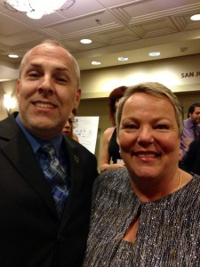 Brian Darling & Lorri Jean, CEO of the LA LGBT Center