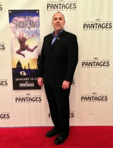 Brian Darling at the opening night for Peter Pan, Pantages Theater